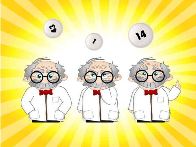 Zeichnungen eines Professors für eine Lotterie-App